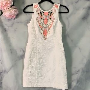 Lilly Pulitzer White Embroidered Sleeveless Dress